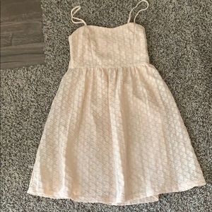 Cream mini dress